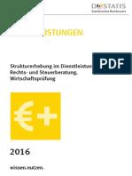 2016-Strukturerhebung Im Dienstleistungsbereich-Rechts- Und Steuerberatung, Wirtschaftsprüfung