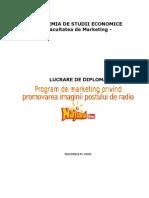 Program de Marketing Privind a Imaginii Postului de Radio - National FM