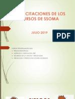 Capacitaciones de Los Cursos de Ssoma - Julio 2019