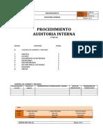 p Cdd 03 Procedimiento Auditoria Interna Version 00