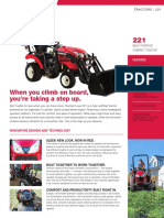 Yanmar SA221 Tractor Brochure