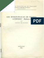 """Los ídolos-placas de la Granja """"Céspedes"""" (Badajoz)."""