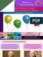 Ley de la Conservación de la materia/Módulo 14