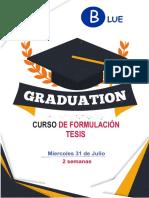 Brochure de Curso de Tesis 2019