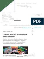 Cumbia Peruana 12 Datos Que Debes Conocer Canalipe.tv