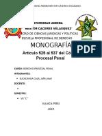 Monografia de Articulos 525 al 537