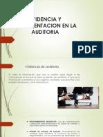 EVIDENCIA Y DOCUMENTACIÓN EN LA AUDITORIA