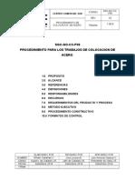 PROCEDIMIENTO DE COLOCACION DE ACERO