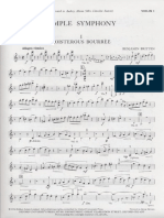 Britten Simple Symphony, Violin I