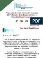 Propuesta de implementacion Ley 1581