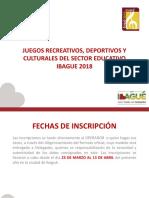 JUEGOS MAGISTERIO 2018