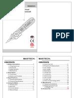 Manual mastech