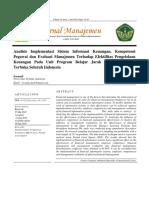 Analiisis implementasi keuangan