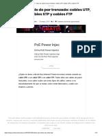▷ Tipos de cable de par trenzado_ cables UTP, cables STP y cables FTP