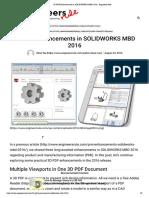 3D PDF Enhancements in SOLIDWORKS MBD 2016 - Engineers Rule