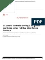 A Batalha Contra a Ideologia de Gênero Começa Nos Joelhos, Diz Helena Tannure