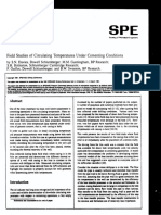 Field Studies of Circulating Temperatures Under Cementing Conditions