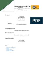 Proyecto de Mecánica de Solidos I ESPOL