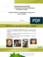 Panorama de Educação de Jovens e Adultos
