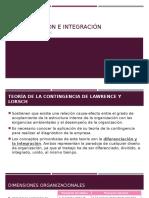 Diferenciación e Integración_Intervenciones Estructurales_Desarrollo Organizacional