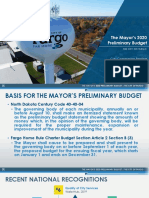 The Mayors 2020 Preliminary Budget - City of Fargo