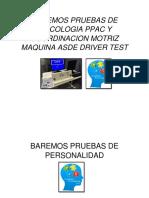 Baremos Pruebas de Psicologia Ppac y Coordinacion Motriz Maquina Asde Driver Test Caratula
