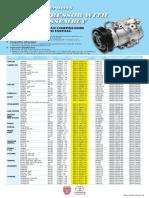 Toyota Denso AC Compressor List