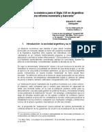Una política económica para el Siglo XXI en Argentina