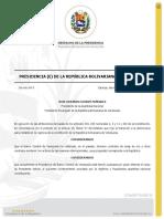 Decreto 8 - Designación de la Junta Administradora Ad-hoc del Banco Central de Venezuela