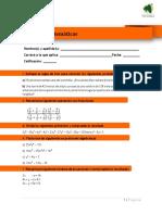 Modelo de Prueba Matemáticas Web