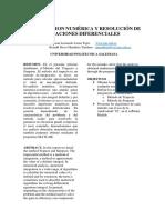 Integracion Numérica y Resolución de Ecuaciones Diferenciales