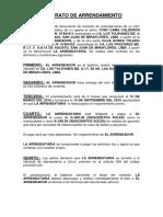 Contrato de Arrendamiento Yoni Calderon