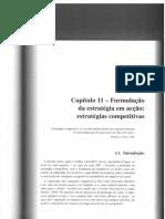 Capítulo 11 - Formulação da estratégia em acção