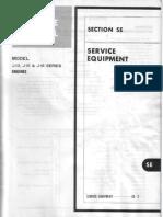 J13, J15, J16 Engines SE Service Equipment