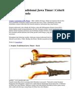 4 Senjata Tradisional Jawa Timur