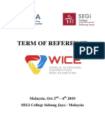 Terms of Reference WICE 2019