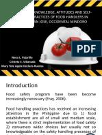 Pajarillo, Villanada&Ruedas_Food Safety