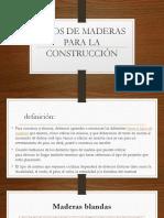 Tipos de Maderas Para La Construcción