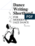 SUTTON, Valerie. Dance writing shorthand for modern dance and jazz