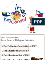 Legal Basis on Philippine Education System