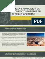 origen y formacion de yacimientos