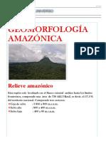 GEOMORFOLOGÍA AMAZÓNICA