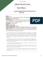 Index to Lenin's 'Karl Marx'