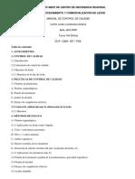 Manual de Control de Calidad de p. Lácteos