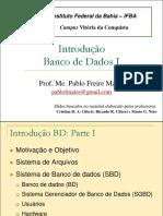 Introdução Banco de Dados, aula 1