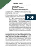 Carta Notarial Matos