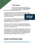 Greek Gods and Goddesses Aphrodite
