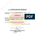 Certificado de Trabajo Acosa