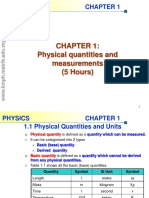 Chapter 1 Physical Quantities an Unit