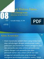 Modul 08 aspek hukum dalam pembangunan.ppt